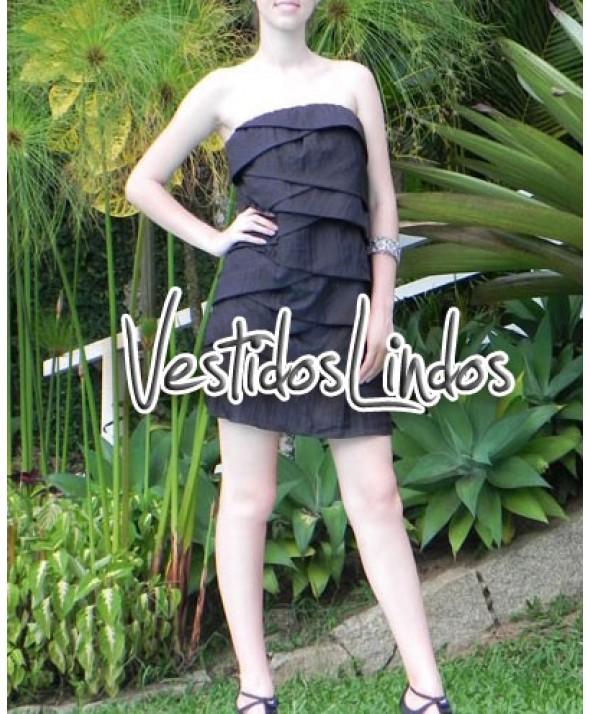 Moda feminina - Vestido tafetá TQC/Alcinha Camadas