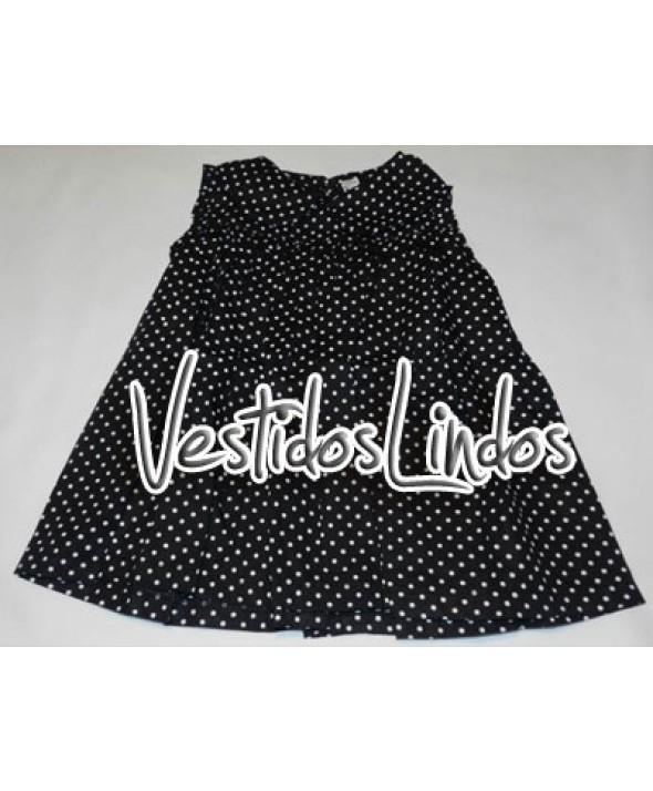 Moda infantil - Vestidos Bolinhas Preto