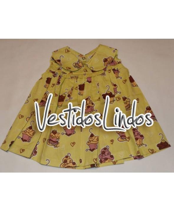 Moda infantil - Vestido Cupcakes