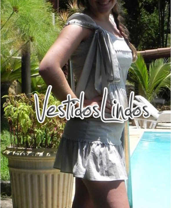 Moda feminina - Vestido lao lateral
