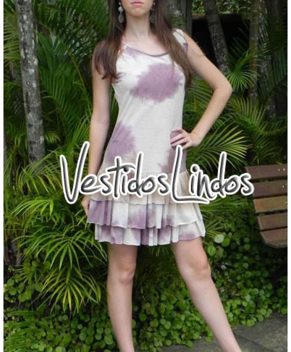 Moda feminina - Vestido tayday babados