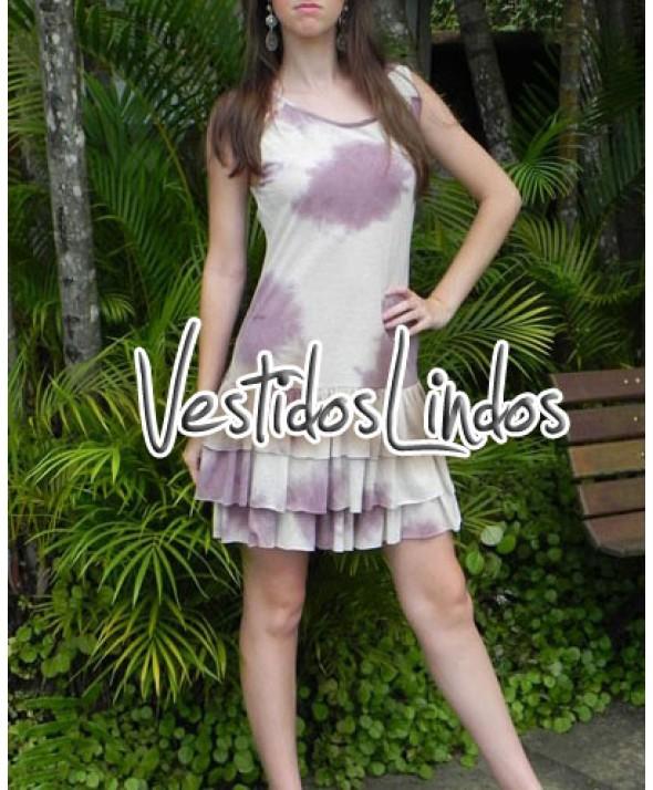 Moda feminina - Vestido tayday babados