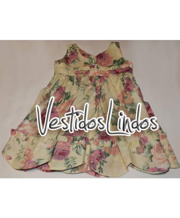 Moda infantil - Vestido florido