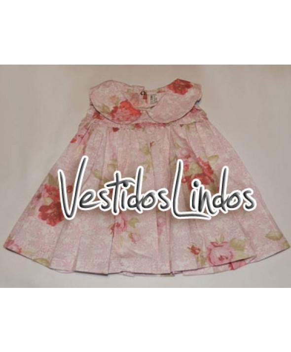 Moda infantil - Vestido Floral Rosa